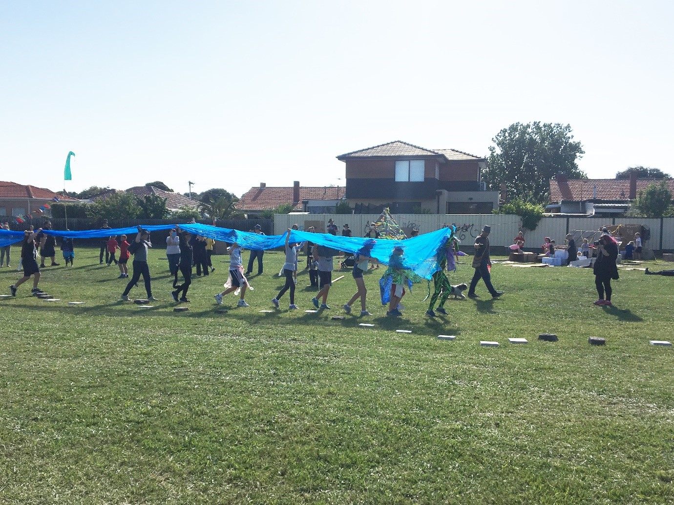 Children perform Interpretive dance depicting the history of the waterway and the animals who lived there