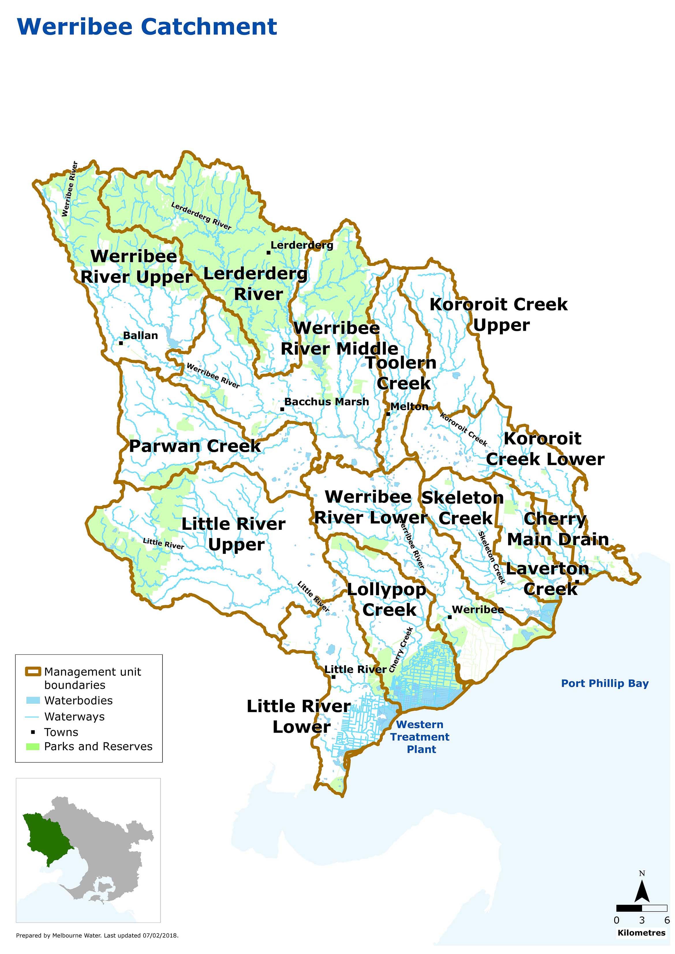 Map of Werribee Catchment