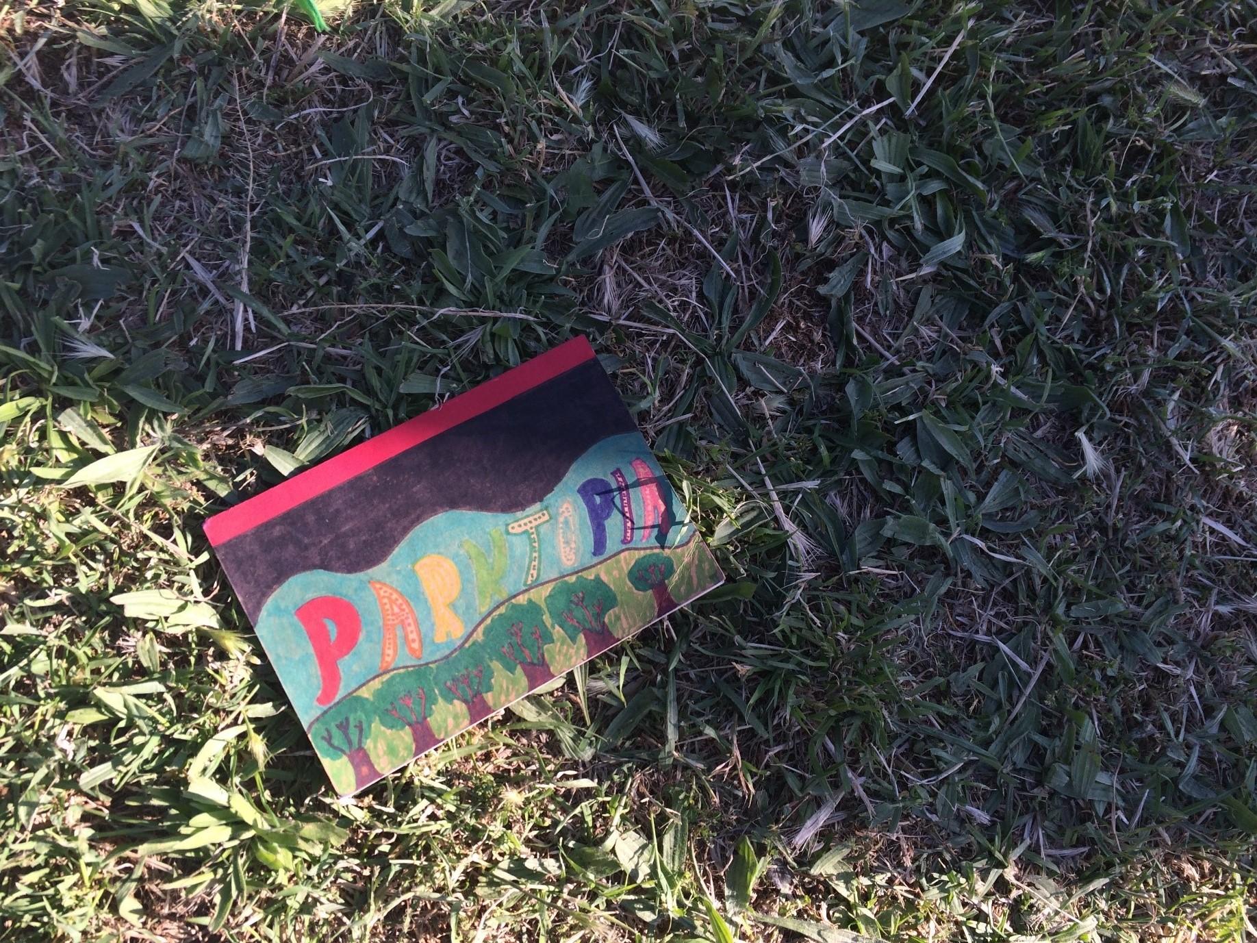 Child's artwork reading Parktopia