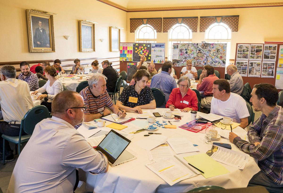Photo of participants at community workshop