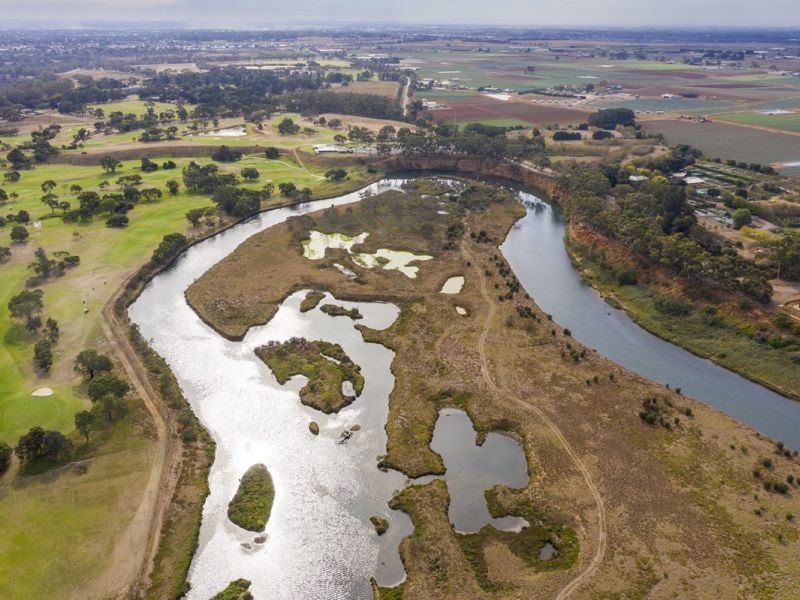 Werribee River estuary image