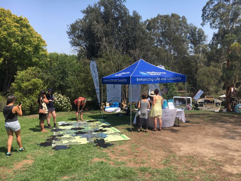 Picture of a Melbourne Water community event