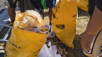 Rubbish collected from Arnolds Creek