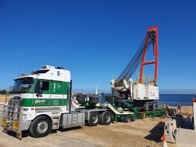 Crane delivered to site May 2021