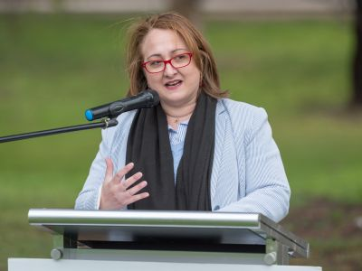 Nerina Di Lorenzo, Melbourne Water's Executive General Manager of Service Delivery speaking
