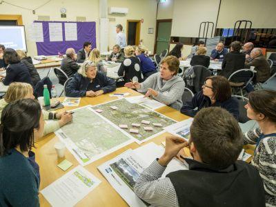 Tarralla Creek Community Advisory Committee sitting at tables