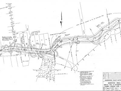 Dandenong Valley Authority plans for the creek in 1960