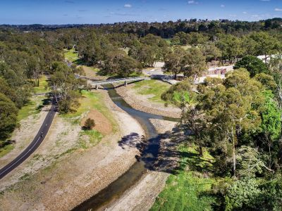 Dandenong Creek after daylighting project 2018