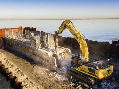 Demolishing the Shakespeare Grove main drain outlet