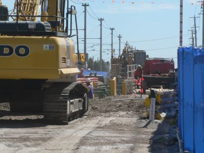 Image of pipe being installed at Oakover Rd