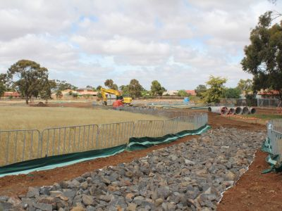 Construction works on Arnold's Creek