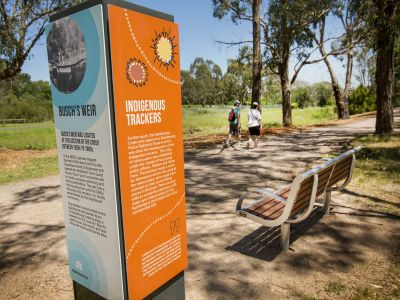 improved amenity; pathways, signage and seating