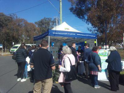 Tarralla Creek Community information session tent outdoors