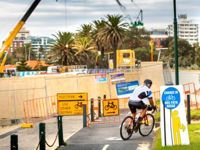 Cycling and pedestrian changes at St Kilda