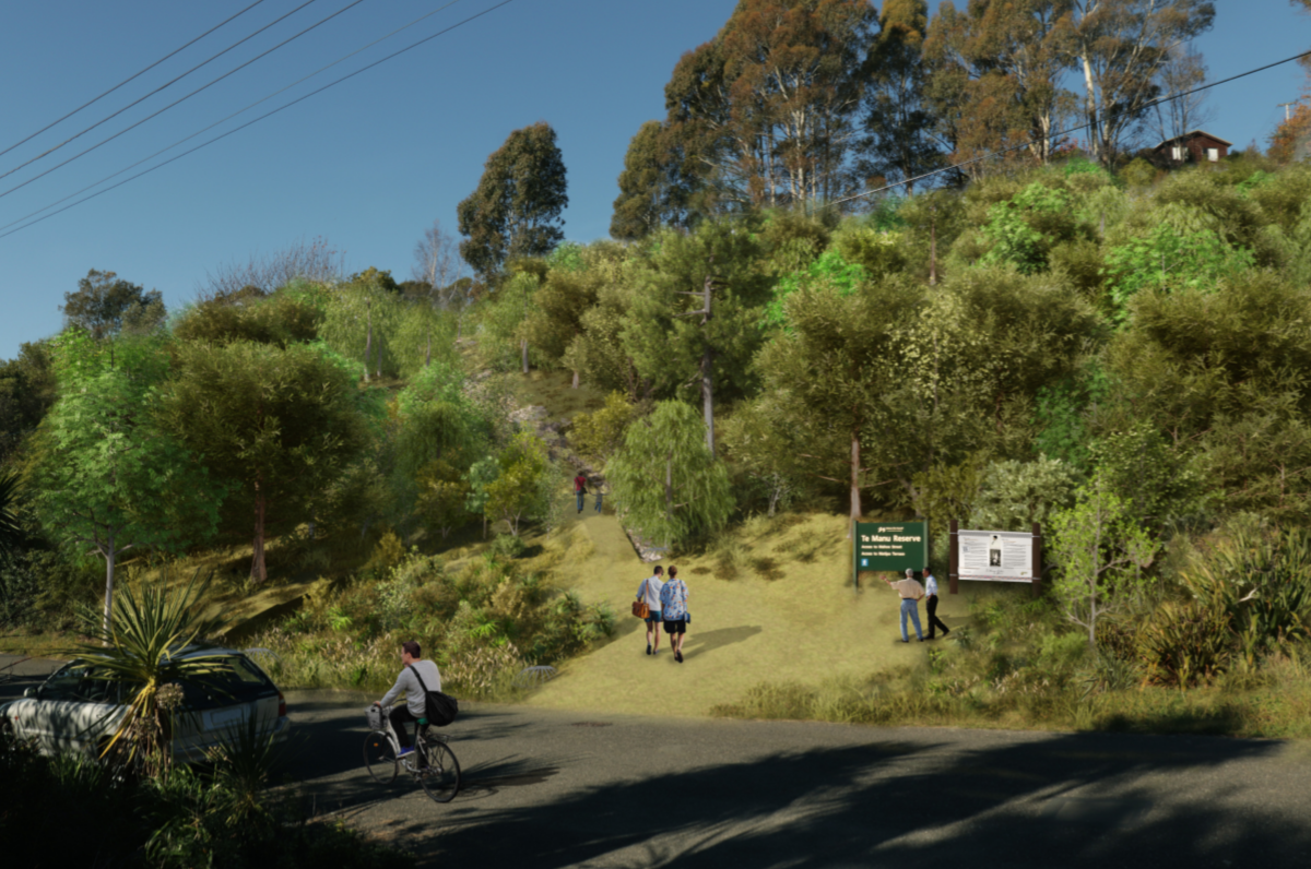 Concept of Te Manu Reserve