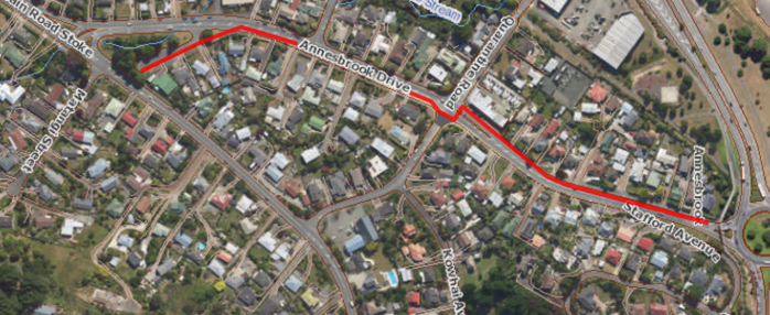 Path of the watermain to be replaced
