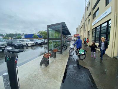New bike shelter