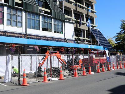 Starting work on Trafalgar Street