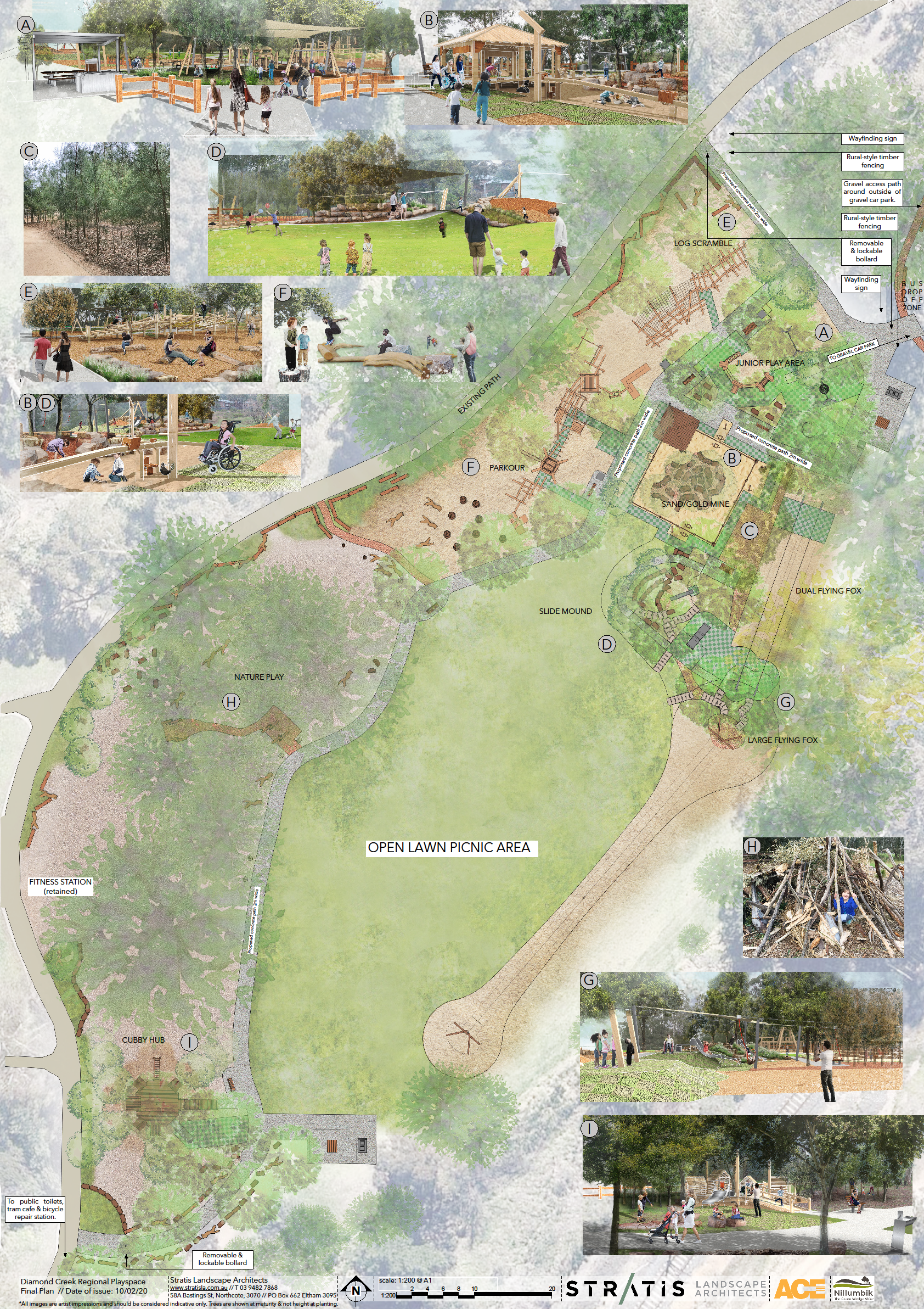 Final design of Diamond Creek Regional Playspace