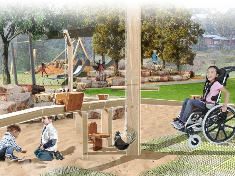 B+D - Gold mining play area + slide mound