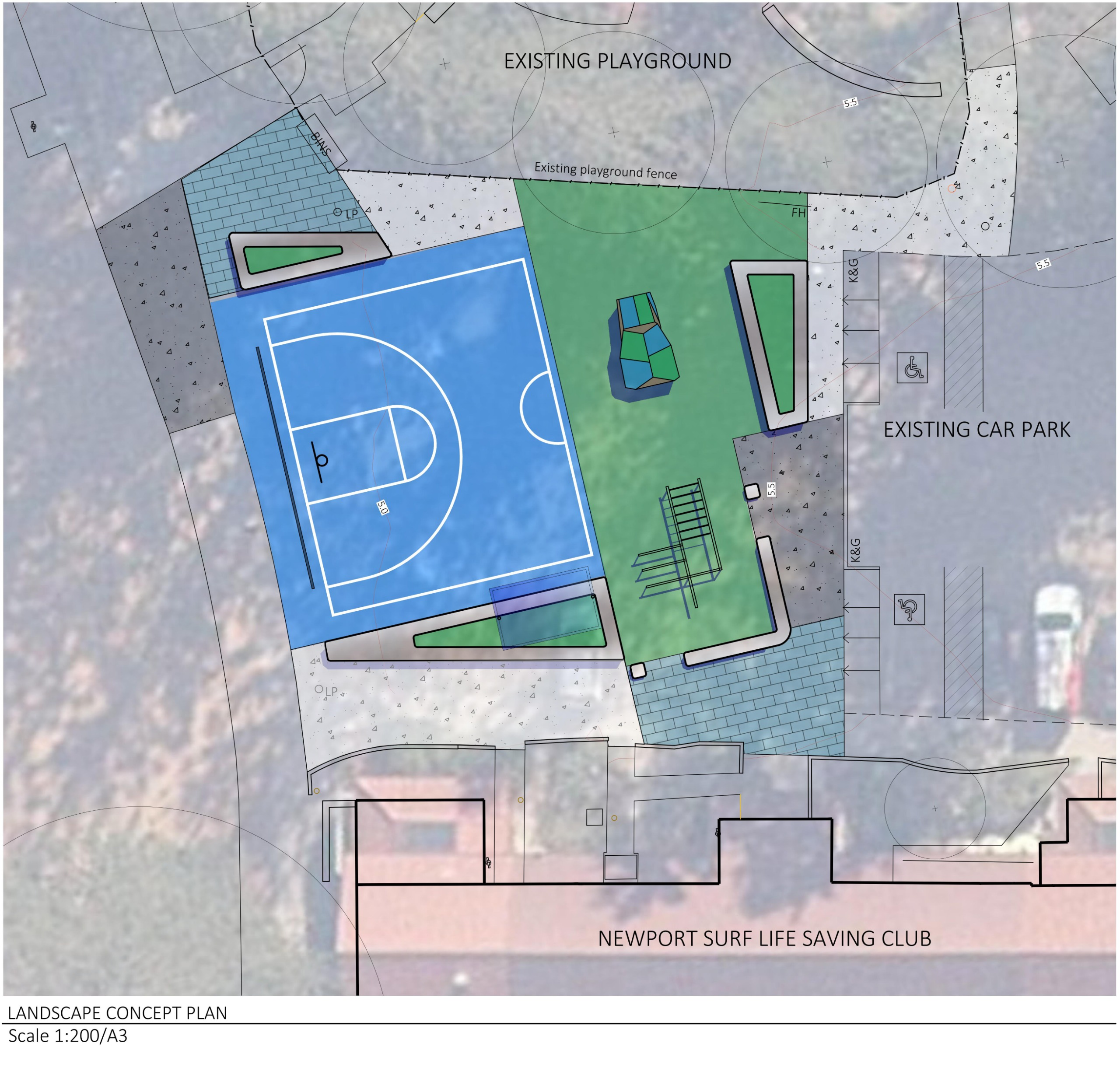 Newport Youth Space Landscape Concept Plan