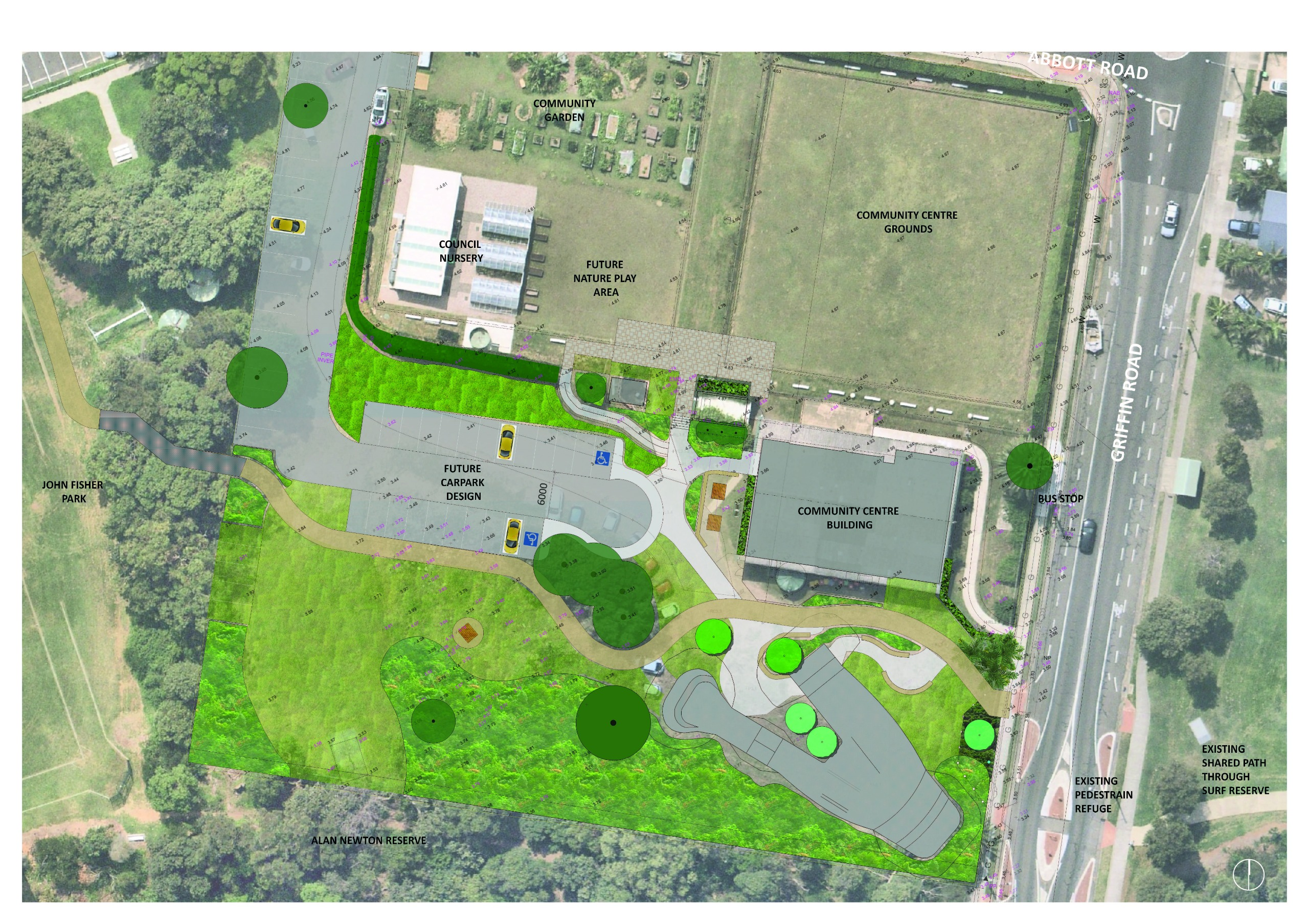 Site map of skate park - North Curl Curl Community Open Space Precinct