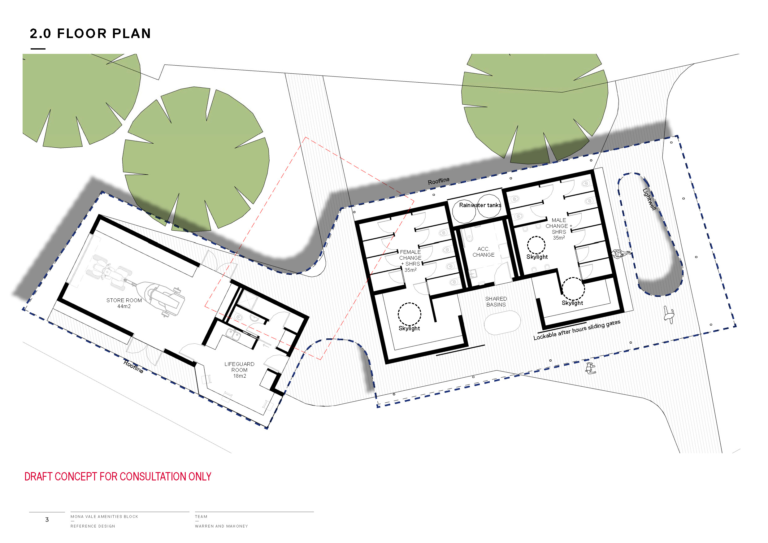 Mona Vale Beach Amenities Concept floorplan