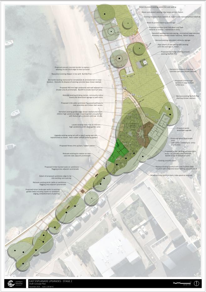 East Esplanade Landscape Plan - Stage 2