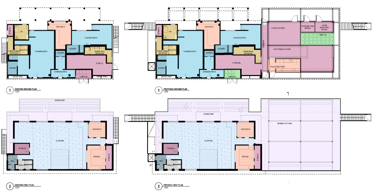 Floor plans - existing and proposed
