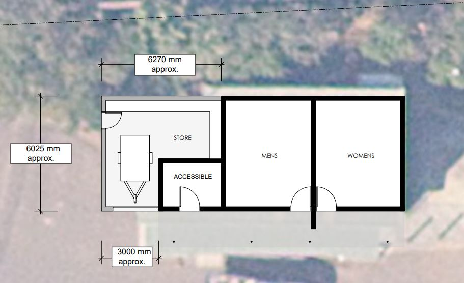 Aeiral image - Storage shed and amenities North Avalon Beach
