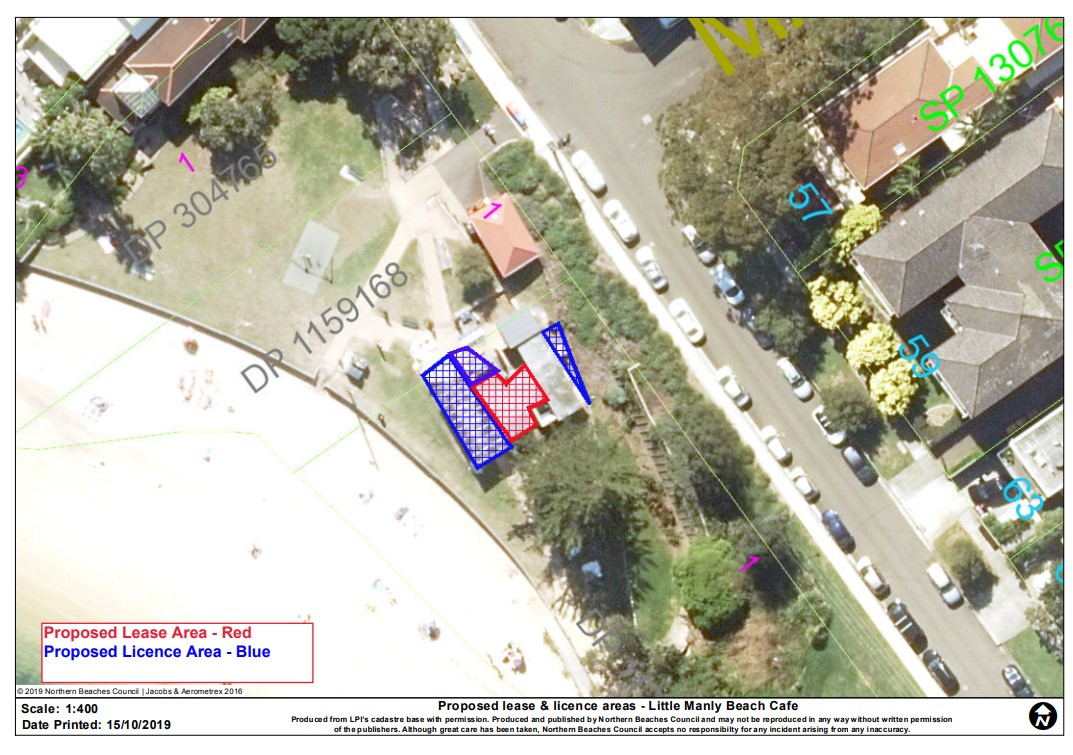 ​Aerial Plan - Little Manly Beach Cafe