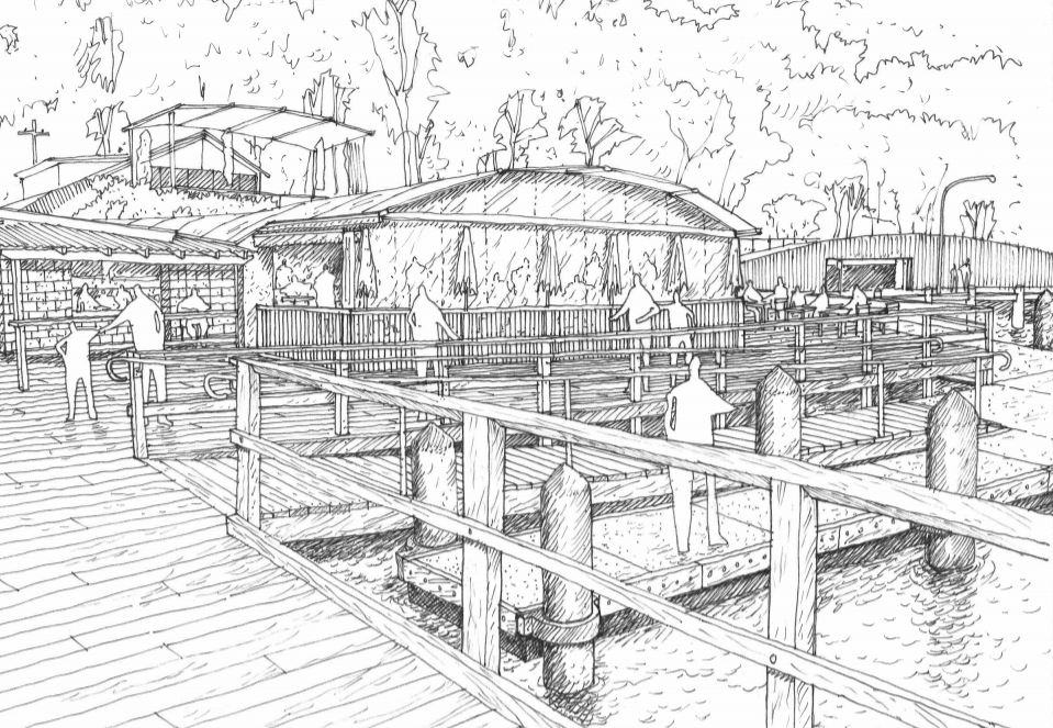 Church Point Upgrade - Stage 2 - Pedestrian Walkway concept drawing
