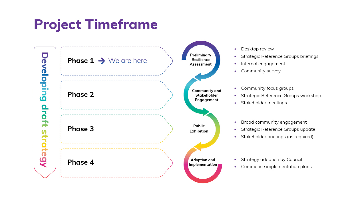 Project timeline visual