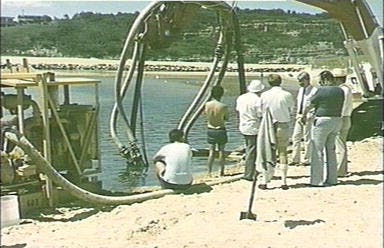 Pumping Sand From Narrabeen Entrance 1986
