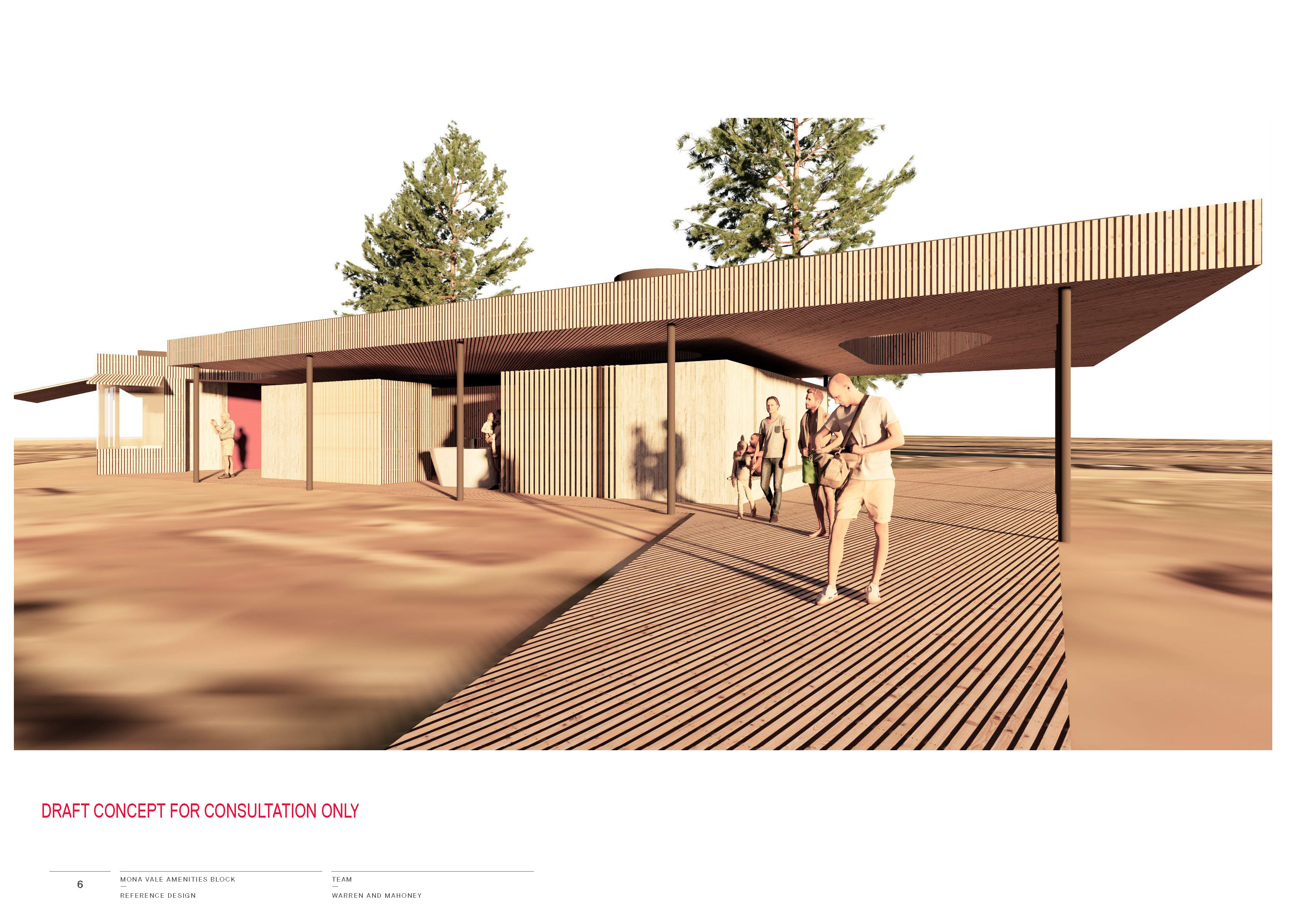 Mona Vale Beach Amenities Concept view from east looking west