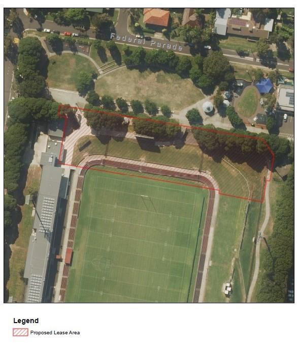 Brookvale Oval proposed lease area