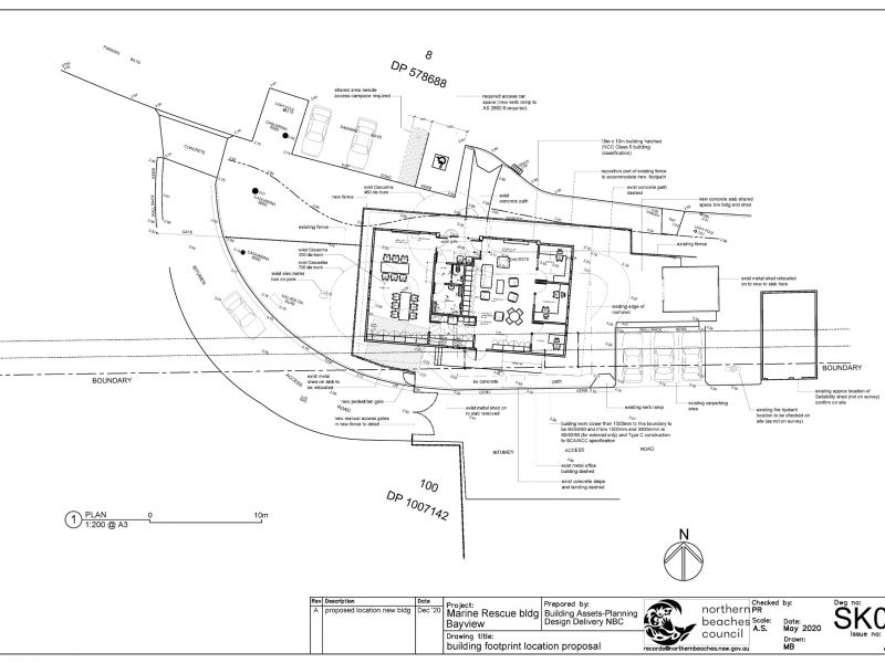 Marine Rescue Building site plan