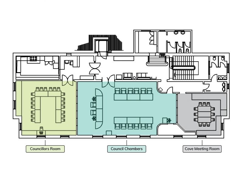 Manly Town Hall upper floorplan