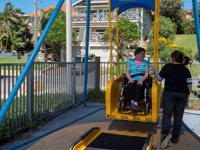 Liberty Swing, Bruce Bartlett Inclusive Playground, Collaroy Beach