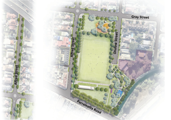 Concept Masterplan for Granville Reserve