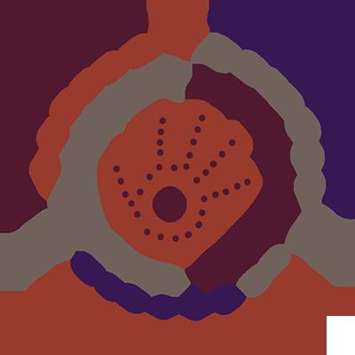 Graphic using traditional Australian Aboriginal symbols