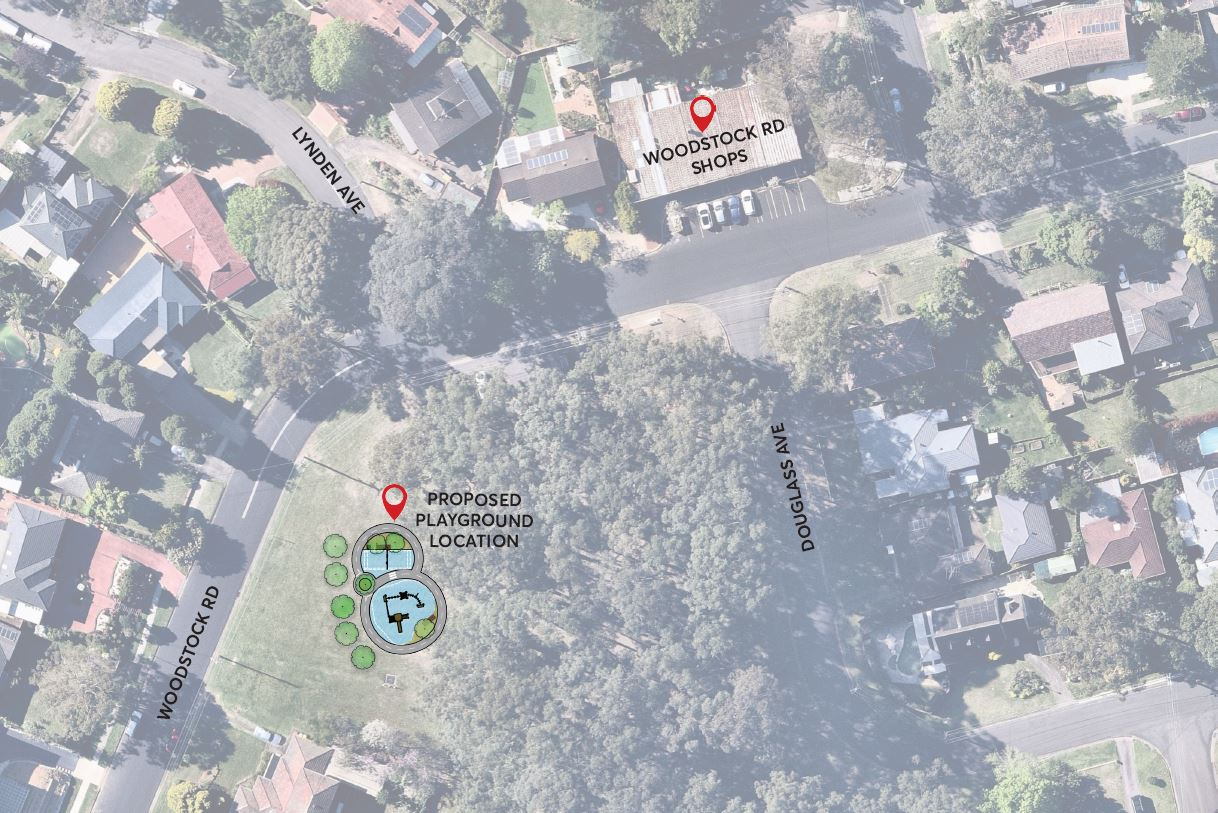 New proposed playground location at Douglass Avenue Reserve