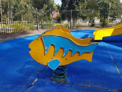 Ageing play surface and play equipment