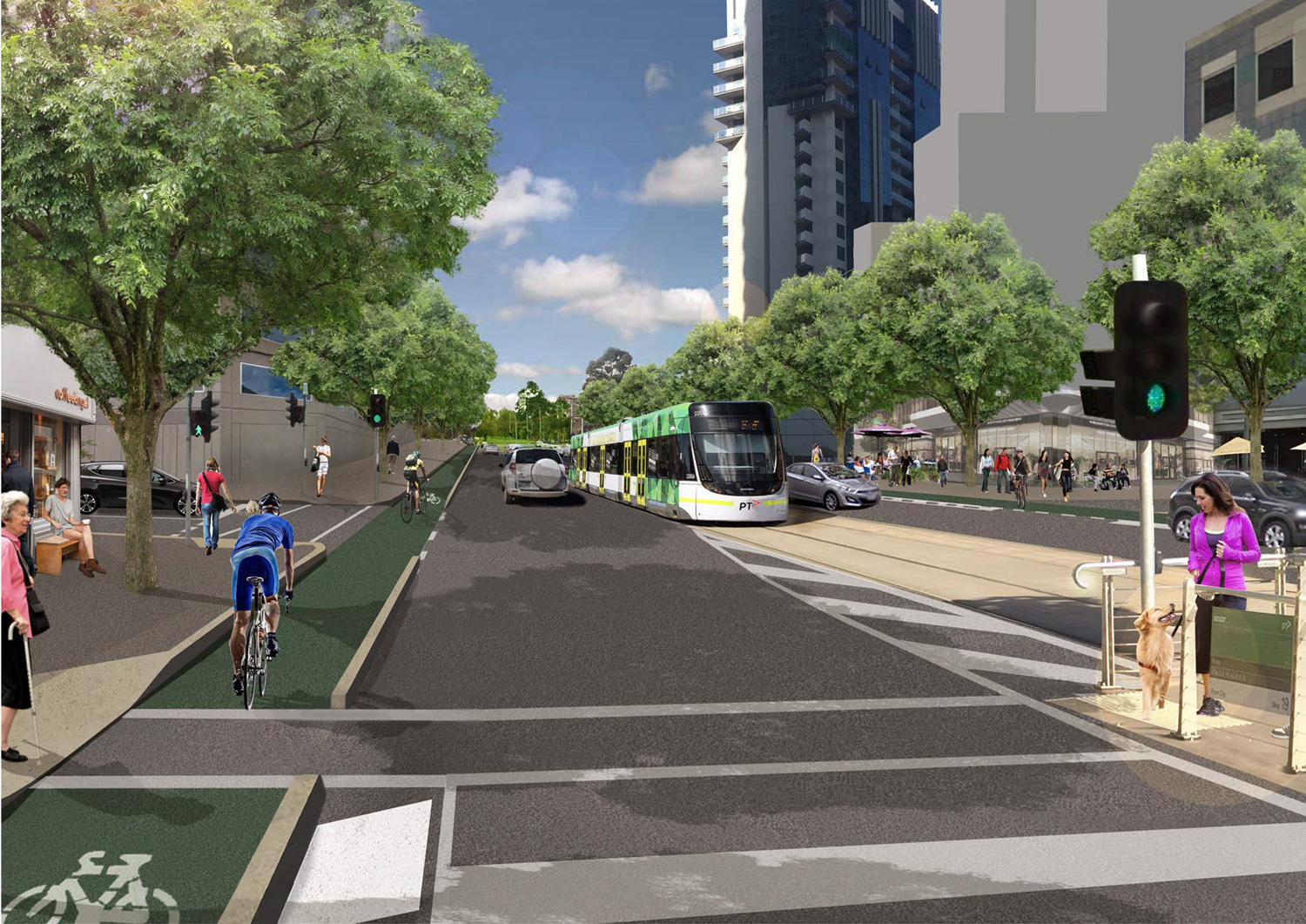 Artist's impression of the Park Street Link project.