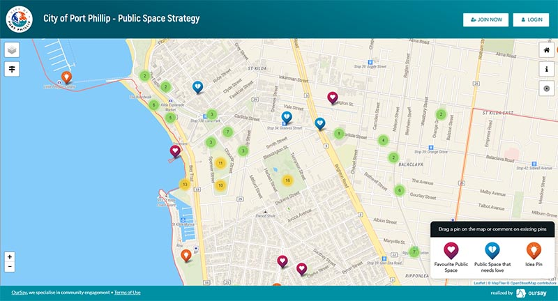 Public Space interactive map