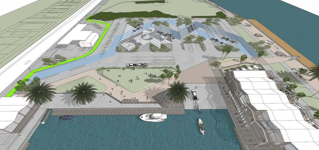Public boat ramp and berthing areas