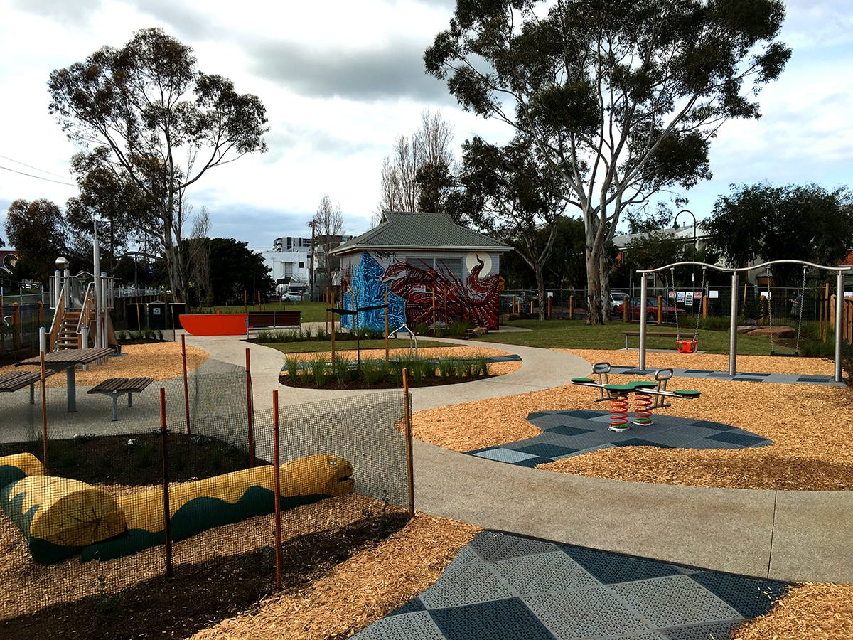 Nature based play at Centenary Reserve