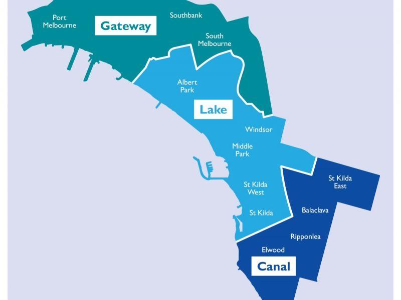 Council ward map