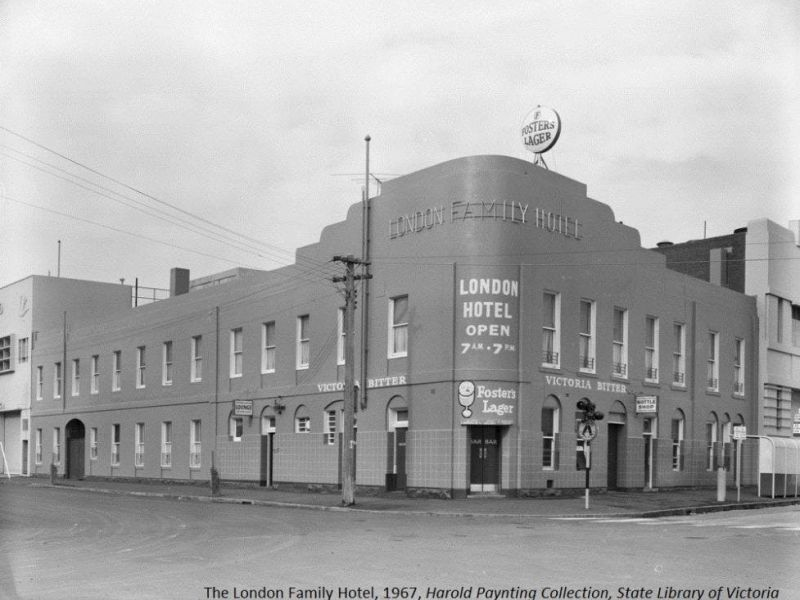 The London Family Hotel, 1967, Harold Paynting Collection, State Library of Victoria