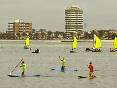 Stand Up Paddle Boarding   Port Phillip Bay